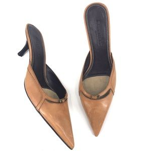 Cole Haan Tan Heeled Mules Size 8